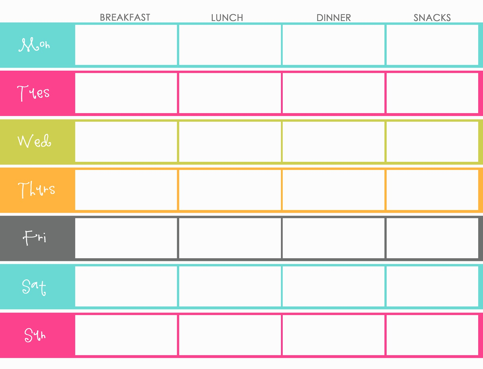 Meal Planning} Research Phase  journey to ONEderland